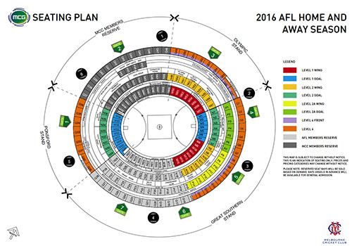 Map Of The Mcg Seating Seating Map Mcg Images Mcg Ticket